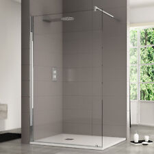 Box doccia 140 cm walk in parete fissa design paratia 10mm cristallo anticalcare