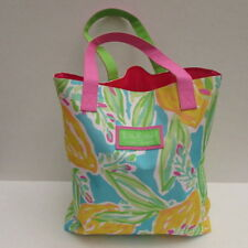 Lilly Pulitzer Estee Lauder Lemons Floral Tote Summer Beach Bag Purse Retired
