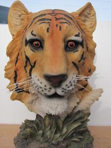 Yellow Tiger Head Figure