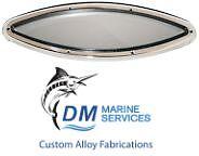 Marine Elipitcal Shape Fixed Stainless Portlight 400 x 127mm
