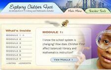 Exploring Children First Intro to Literacy & Mathematics Initiatives PC MAC CD