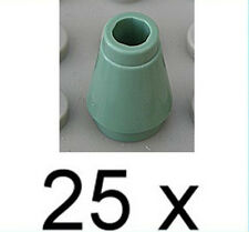 LEGO - 25 x cône/Cône pierre 1x1 sandgrün/sand green Cone/4589b article neuf