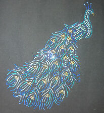 Rhinestone Stone Application Animals Pfau Iron-on patch, HotFix motif