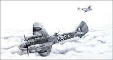 RAF Bristol Blenheim print signed by 10 Battle of Britain aircrew veterans