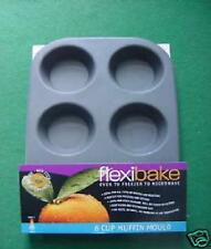 Flexibake Flexible De Silicona Horno Microondas Taza 6 Muffin Tin
