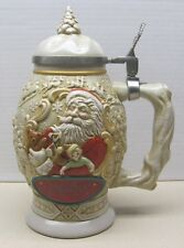 Christmas AVON Beer Stein Father Christmas 1994-Mint No  Box Lidded Santa Claus-