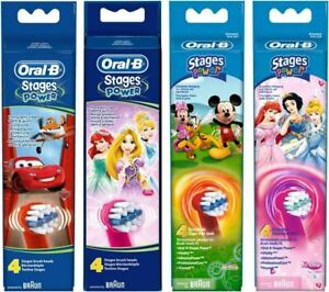 Oral-B Stages Toothbrush Heads with Cars Design - Replacement - 4 Pack