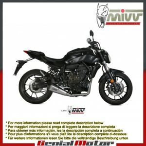 Mivv Complete Exhaust Delta Race Stainless Steel for Yamaha Mt-07 2014 > 2018