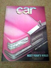 CAR MAGAZINE MAY-1978 - Porsche 924, Lotus Eclat, Chrysler Horizon, Renault 18
