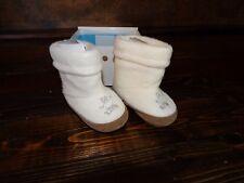 17878 NIB Baby RALPH LAUREN Layette BOOTS BOOTIES ~ Cream Fleece Bear ~ 3