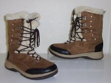 Itasca Brown & Faux Fur Lined Lace Up Boots Size 8 Shoes