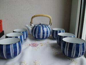 Asiatisches Teeservice Kanne und 6 Becher
