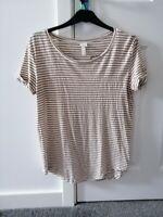 H M Women's T-Shirt Top Size M medium