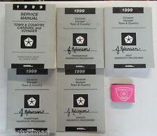 1999 DODGE CARAVAN VOYAGER TOWN & COUNTRY SERVICE SHOP REPAIR MANUAL SET