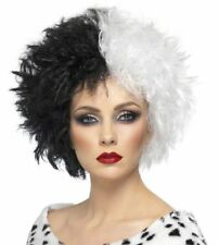 Black & White Evil Madame Wig Wicked Cruella De Vil Dalmatian Villain Skunk Lady