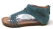 Adam Tucker Me Too Women's Nolana Gladiator Sandal Denim Blue Suede 9.5 M