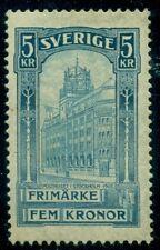 Sweden #66v (65v) 5kr Gpo, Inverted Watermark, og, Lh, Vf, Facit $450.00