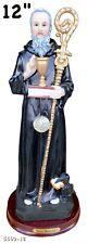 "San Benito/ Saint Benedict 12"" statue Religion & Spirituality New"