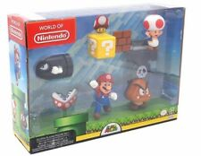 World Of Nintendo Acorn Plains Figure Set Super Mario Diorama Gift Set 2.5 Inch