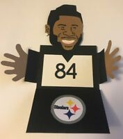 Any Occassion Pittsburgh Steelers Antonio Brown Handmade Gift Card Holders