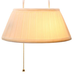 Over the Headboard Hanging Bed Lamp - Cream