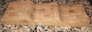 STACKABLE In-Drawer Knife Organizer by Human Nesting 100% Solid Organic Bamboo.