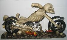 Flaschenhalter Weinständer, Motorrad Skull Biker Totenkopf, Kunststoff 36x19x9cm