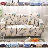 Home Flax Floral Pillow Case Sofa Cover Pet Protector for 1 2 3 4 seaters