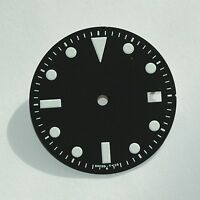 Plain Milsub Watch Dial for ETA 2836 / 2824 Movement White Lume w/Date