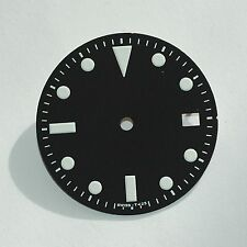 Plain Milsub Watch Dial for ETA 2836 / 2824 Movement White Lume w/Date