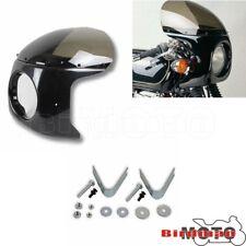 "Cafe Racer Smoke 7"" Headlight Fairing With Windshield Mounting For Suzuki Yamaha"