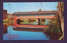 LMH Postcard  ASHUELOT RIVER COVERED BRIDGE  Town Lattice Truss Bolton Road NH
