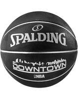 Spalding NBA Downtown Durable Rubber Cover Outdoor Black Basketball