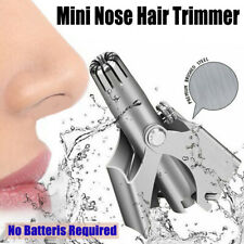 Stainless Steel Nose Shaving Hair Removal Clipper Trimmer Manual Device Kit US