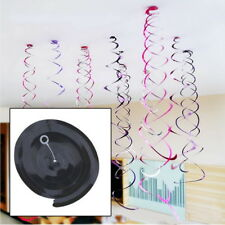 6PCS Spiral ornaments Hanging Swirl Party Decor Birthday Baby Shower Plastic US