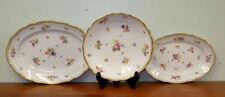 3 PC Meissen Floral & Butterfly Porcelain Serving Pieces Platters & Bowl