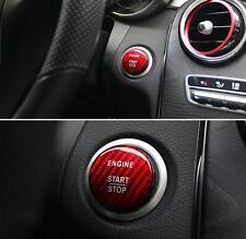 Red Carbon Fiber Engine Start Button Cover Cap Trim For benz A B C E GLC CLA all