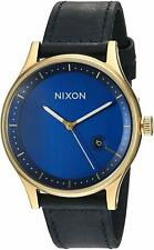 Nixon Station Leather Watch Gold & Navy / A1161 933 / A1161933 / A1161-933