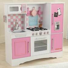 KIDKRAFT WOODEN  PASTEL KITCHEN CHILDS PLAY KIDS GIRLS Pink