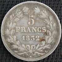 FRANCE 5 FRANCS LOUIS PHILIPPE 1832 L