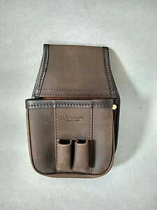 Hornstone of London handmade distressed brown leather shotgun cartridge bag