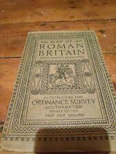 Vintage Ordnance Survey Map Of Roman England