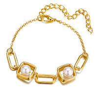 Gold Big Pearl Chain Bracelets For Women Girl Fashion Bracelets Jewelry