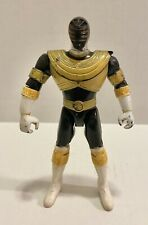 "Vintage Power Rangers Zeo Black Gold Ranger Action Figure Bandai 5"" 1996"