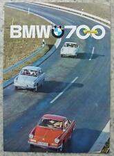 BMW 700 LUXUS Car Sales Brochure 1961 #W204e 9.61