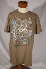 O'NEILL Size M Medium Brown 100% Cotton Short-Sleeve T-Shirt