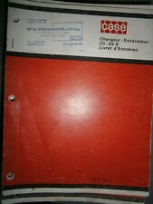 Case tractopelle chargeur excavateur 33 - 33S : notice d'entretien