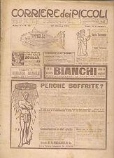 CORRIERE DEI PICCOLI 30 OTTOBRE 1910 anno II NUMERO 44  CON SOVRACOPERTINA