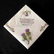 Robert Burns poems and thistles 3 ply paper 33cm napkins Pack of 20 AP2122