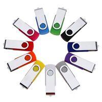 Swivel USB 2.0 Metal Flash Memory Stick Pen Drive Storage Thumb U Disk Lot LG